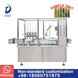 Automatic Olive oil glass bottle filling and capping machine complete olive oil line