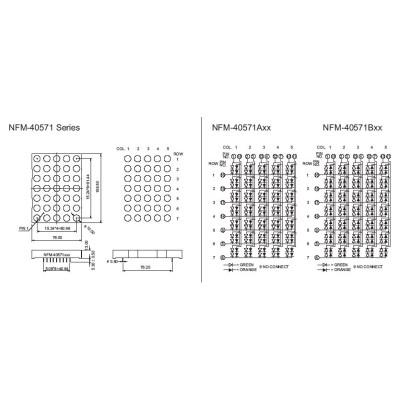 LED Dot Matrix Display 5x7NFM-40571ABxx