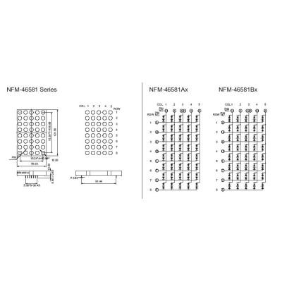 Dot Matrix Display 5x8NFM-46581ABx