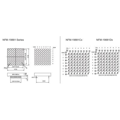 LED Dot Matrix DisplayNFM-19881CDX