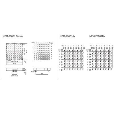 Dot Matrix Display 8x8NFM-23881ABX