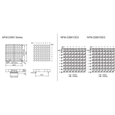 LED Dot Matrix DisplayNFM-23881CDEG