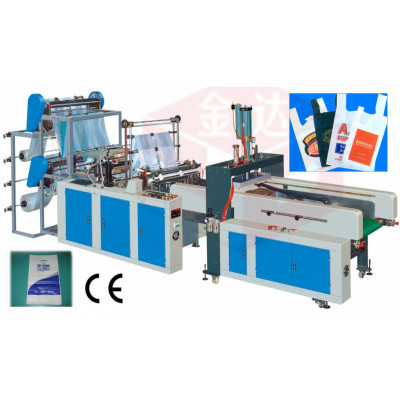 Computer Automatic T_shirt Bag Sealing and Cutting Machine