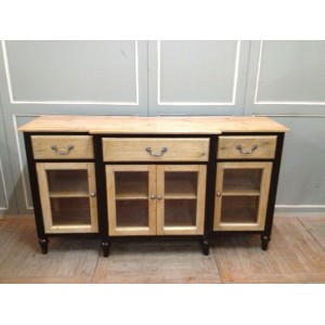 3 DRAWER 4 GLASS DOOR BUFFET