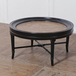 PARQUET TOP ROUND COFFEE TABLE