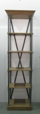 NARROW X BACK DISPLAY  CABINET