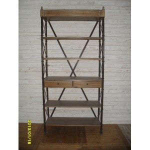 2 DRAWER  IRON DISPLAY  CABINET
