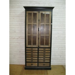 2 door 8 drawer bookcase