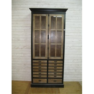 2 door 8 drawer bookcase