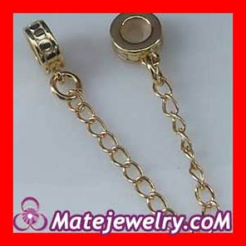 Gold plated Pandora Silver Safety Chains