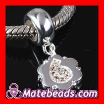 Wholesale Pandora Luck Number 6 Charms with CZ Stone