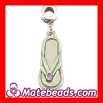 Wholesale Jewelry Pandora Slipper Charm Necklace With Stone