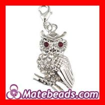 Fashion Animal Jewelry, Pandora Owl Charms With Stone