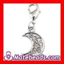 New Arrival Jewelry Pandora Moon Charms With CZ Stone