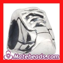 925 Sterling Silver Shoe Beads Charms For Bracelets Wholesale