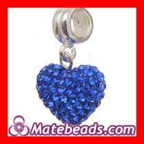 Pandora Silver Crystal Heart Dangle Charm For Jewelry