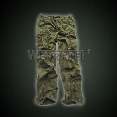 ROAD STAR VINTAGE CARGO PANTS OLIVE