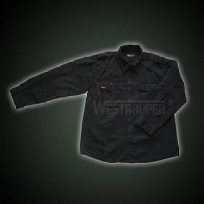 BLACK BDU SHIRT WASHED