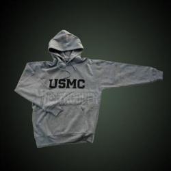 USMC HOODED SWEATSHIRT GRAY