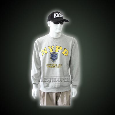 Gray pullover sweatershirt