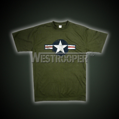 White star shirt in olive