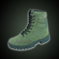 Green cow suede leather boots