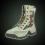 Green double zipper boots