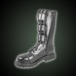 20 Holes Black Ranger Boots