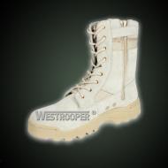 Desert tactical boots with zipper