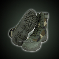 Troops tactical green-camo army leather boots