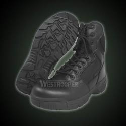 TACTICAL BLACK LEATHER BOOTS
