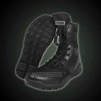TACTICAL BLACK LEATHER BOOTS 70-1724