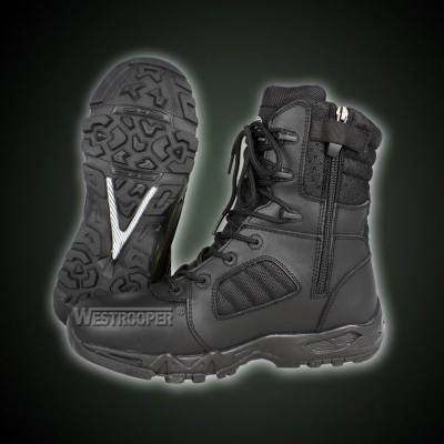 TACTICAL BLACK LEATHER BOOTS 70-1764