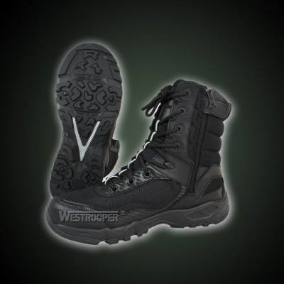 TACTICAL FATION BLACK LEATHER BOOTS