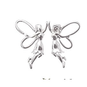 2 Pair Silver Plated Angel Earring Ear Stud E-1068