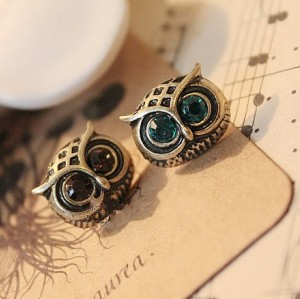 Wholesale 2 pairs Lovely Owl Ear Stud Earring E-0673
