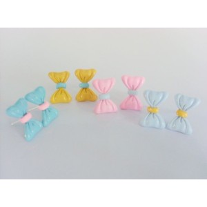 New Coming Glazed Lovely Bowknot Earring E-1535