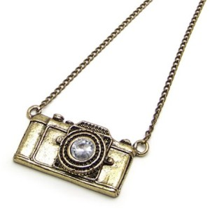 Vintage Brass Camera Pendant Long Necklace New Comming N-4797