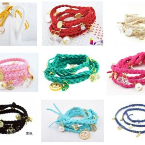 Fashion Heart Crown Multi Element Bracelet B-0021