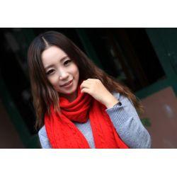 Fashion 7 Colors wool knitting Hemp flowers pattern mottling leopard scarf C-0035