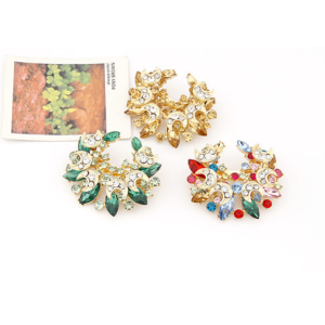 new coming charming gold plated alloy  rhinestone moon pin brooch P-0013