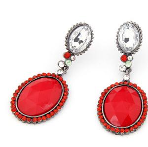 Korea Style Crystal Rhinestone Faux Gem dangle earring E-0049