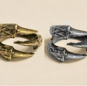 bronze Eagle Claw Ring R-1004