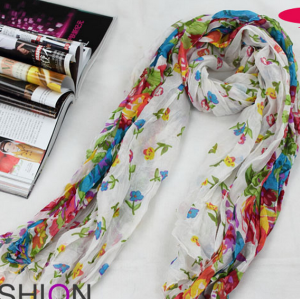 Crease and flat style Dazzle scarf  C-0029