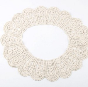 Charming Cream Tone Lacework Cute FloweR Collar Necklace N-2040