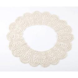 Charming Cream Tone Lacework Cute FloweR Collar Necklace N-2040
