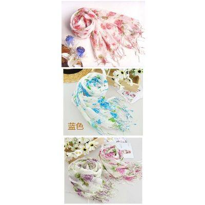 Fashion Cotton blends Print Long Girl Scarf Shawl Wrap  C-0005