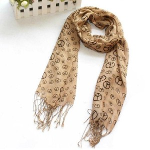 Fashion Peace Sign Scarf  C-0014