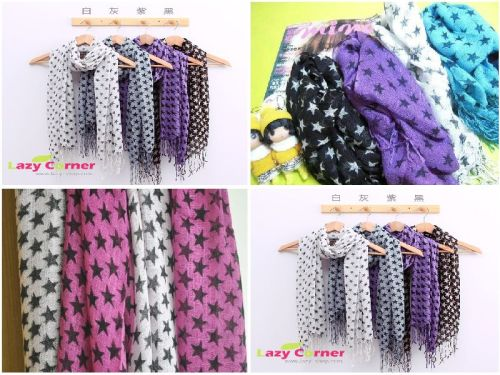 Fashion 8Color for Optional star Edging Scarf C-0025