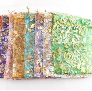 Wholesale Gorgeous Organza Gift Bags 10x15cm Rose G-0009-BL